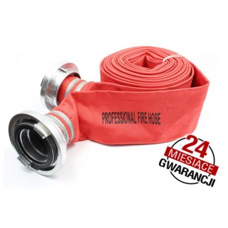 """Wąż strażacki Professional Plus 4""""30m ze złączkami"""