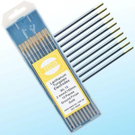 Złota elektroda wolframowa WL15 do TIG 2.4x175mm