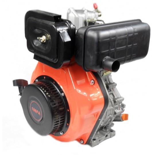 Silnik diesla 186F z wałkiem stożkowym o gr 26mm do agregatów