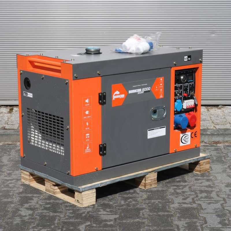 Agregat prądotwórczy 10 kVA 8 kW 230/400V Barracuda DIESEL 8000 SILENT ze wzmocnioną fazą 230V OUTLET 38