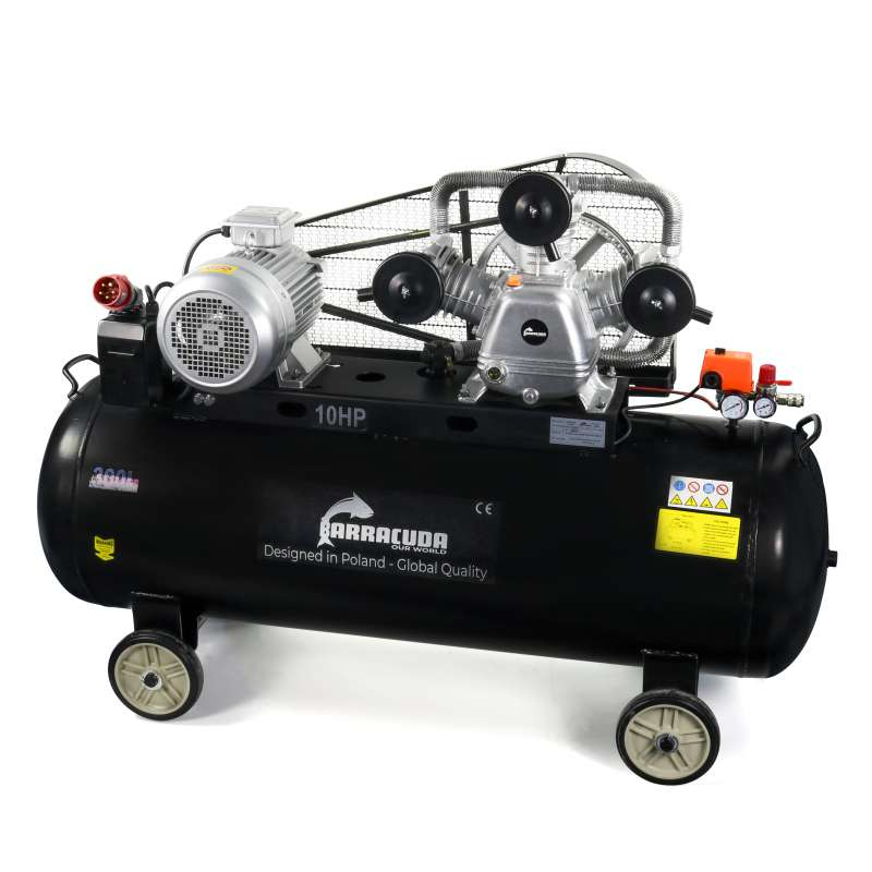 Kompresor powietrza Barracuda 3090W 300L 8 BAR 1300 l/min 400V