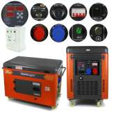 Agregat prądotwórczy 12 kVA 9,5 kW 230/400V Barracuda DIESEL 8000 SUPER SILENT ze wzmocnioną fazą 230V ATS
