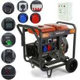 Agregat prądotwórczy 12 kVA 9,5 kW 230/400V Barracuda DIESEL 9500 OPEN ze wzmocnioną fazą 230V