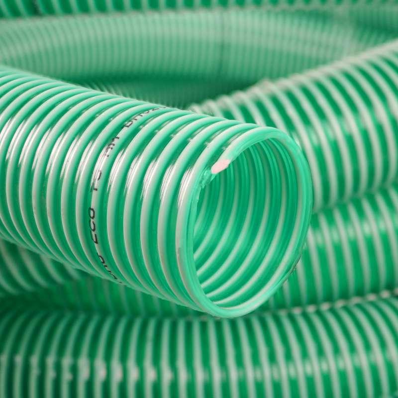 Wąż ssawny 1 1/4 cale 32 mm - wzmacniany przeźroczysty ZIELONY