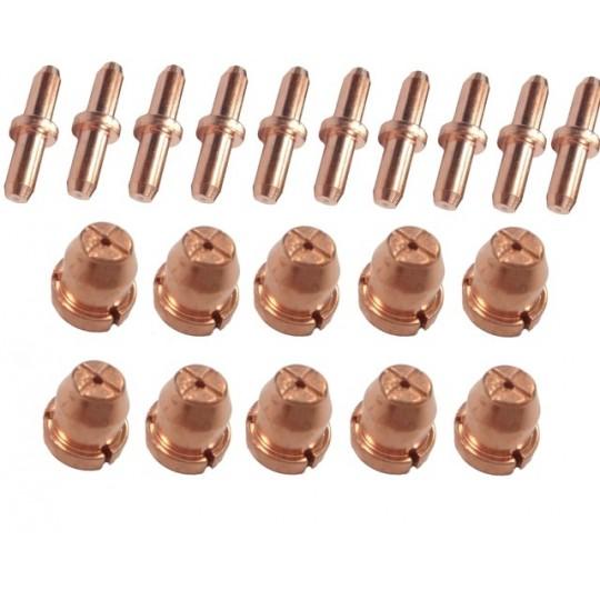 Komplet 10 dysz oraz 10 elektrod do przecinraki plazmowej LG75