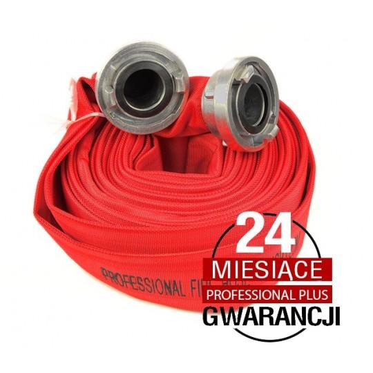 """Wąż strażacki Professional Plus 2""""30m ze złączkami"""