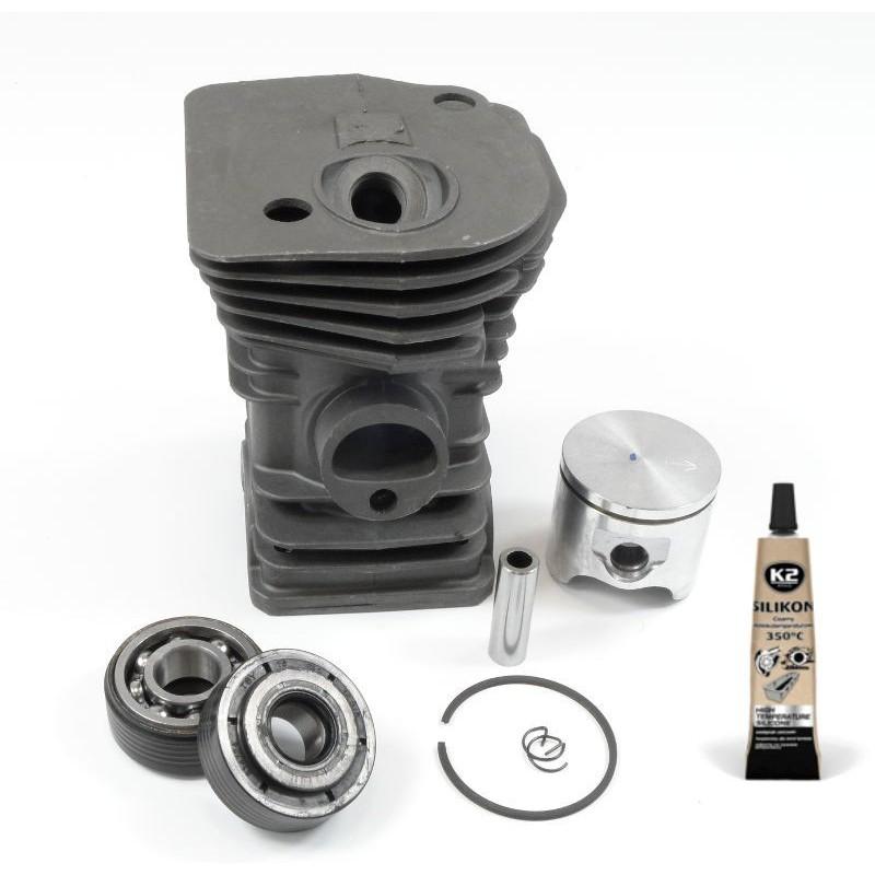 Zestaw - cylinder - tłok - łożysko - uszczelki Husqvarna 345