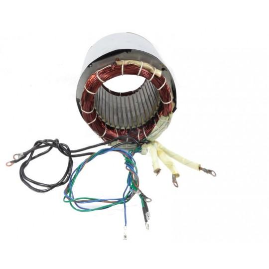 Stojan prądnica długość pakietu 140 mm do agregatów jednofazowych ze spawarką 230V - MIEDZIANE UZWOJENIE!