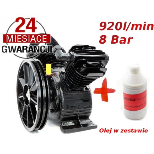 SPRĘŻARKA 8 BAR 2 cyl kompresor powietrza olejowy