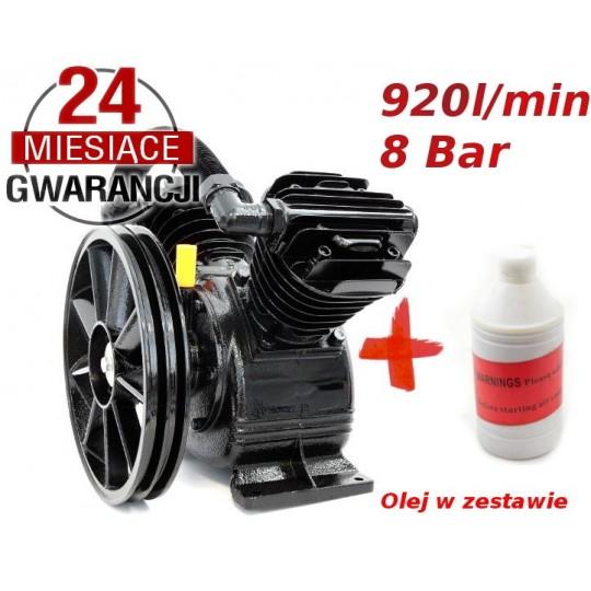 Sprężarka - kompresor olejowy 920l/min 2 tłokowy 8 BAR 2090 - OLEJ SPRĘŻARKOWY GRATIS!