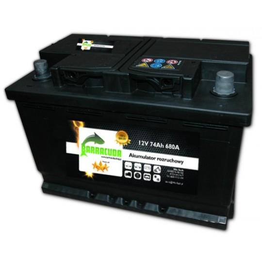 Akumulator rozruchowy , akumulator do agregatu 74Ah 680A