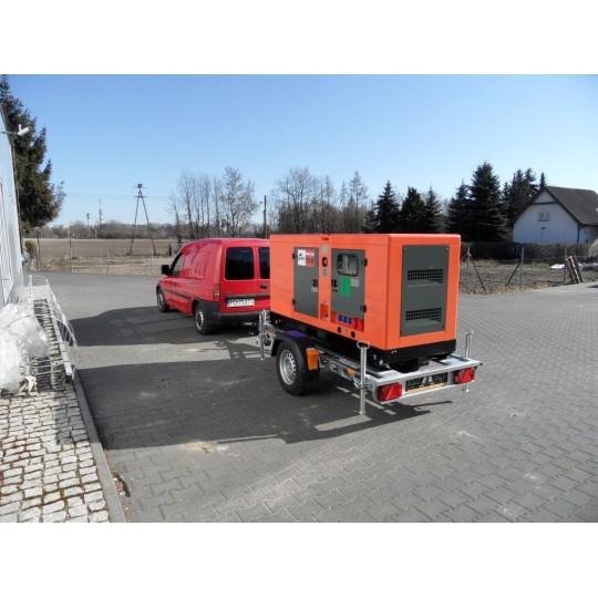 Przyczepa transportowa do agregatu prądotwórczego, przyczepa specjalistyczna pod agregat