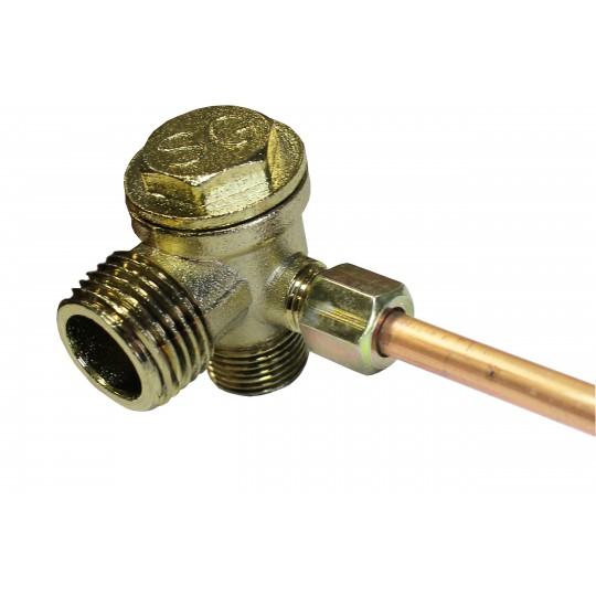 Rurka do kompresora sprężarki z dwoma śrubunkami 9 mm
