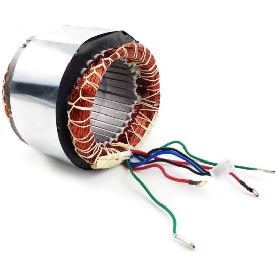 Stojan prądnica długość pakietu 120 mm do agregatów jednofazowych 230V - MIEDZIANE UZWOJENIE!