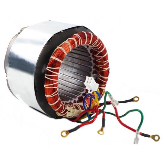 Stojan prądnica długość pakietu 120 mm do agregatów trójfazowy 230V, 400V - MIEDZIANE UZWOJENIE!