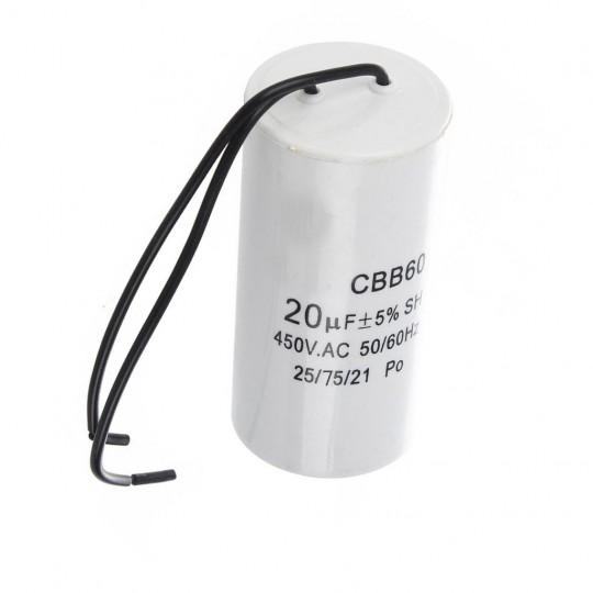 Kondensator rozruchowy 20uF 450V AC