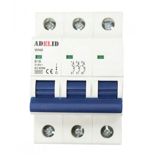 Bezpiecznik C16/3 do agregatów trzyfazowych