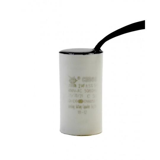 Kondensator rozruchowy 2uF 450V AC