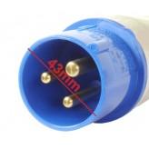 Wtyk 230V Wtyczka 220-250V 16A/3P 3 PINOWA IP44