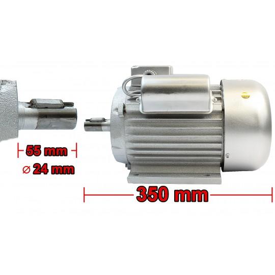 Silnik elektryczny 2,5kW 1450 z SZAJBĄ 150 230V 1F