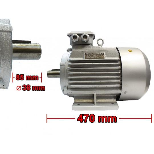 Silnik elektryczny 5,5kW 1450 400V 3F z SZAJBĄ 160