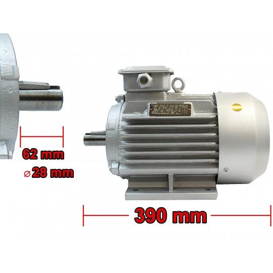 Silnik elektryczny 3kW 1450 rpm 400V 3F z SZAJBĄ 100