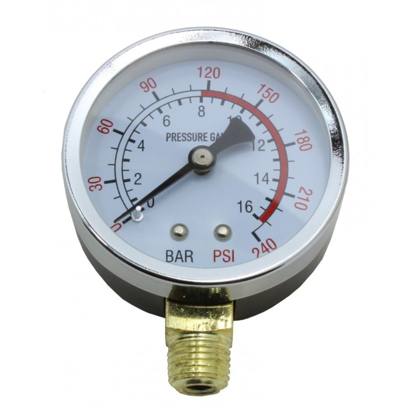 Manometr do kompresora sprężarki 1/4 cala 16 bar