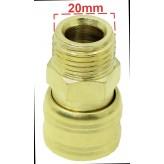Szybkozłączka pneumatyczna złączka 1/2 cala 20 mm