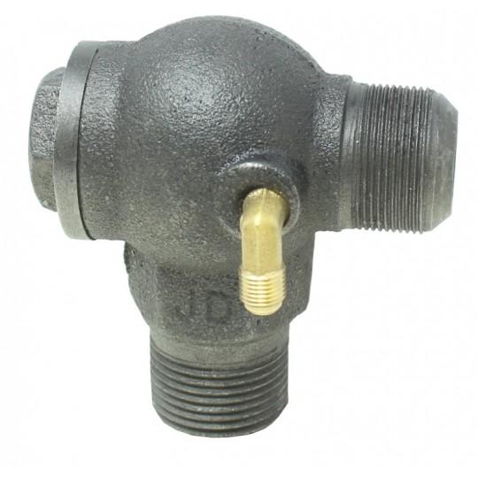 """Zawór zwrotny żeliwny do kompresora sprężarki 1"""" z kolankiem na rurkę odprężnika"""