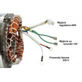 Stojan prądnica długość pakietu 70 mm do agregatu prądotwórczego jednofazowego 230V - MIEDZIANE UZWOJENIE!