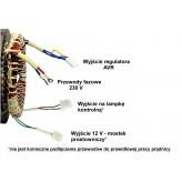 Stojan prądnica długość pakietu 150 mm do agregatu prądotwórczego jednofazowego 230 12V - MIEDZIANE UZWOJENIE!