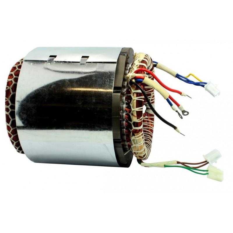 Stojan prądnica długość pakietu 140mm do agregatu trójfazowego 400V - MIEDZIANE UZWOJENIE!