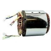 Stojan prądnica długość pakietu 140 mm do agregatu prądotwórczego jednofazowego 230V 12V - MIEDZIANE UZWOJENIE!