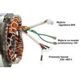 Stojan prądnica długość pakietu 100 mm trójfazowy 230V 400V - MIEDZIANE UZWOJENIE!