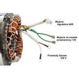 Stojan prądnica długość pakietu 85 mm do agregatów prądotwórczych jednofazowych 230V 12V - MIEDZIANE UZWOJENIE!