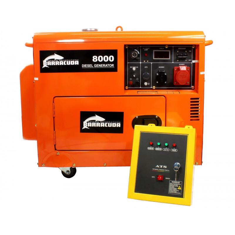 Agregat prądotwórczy 10kVA Barracuda 8000 3F DIESEL ATS
