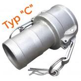Kompletne złącze camlock typ C + E do węża 1 i 1/2 cala