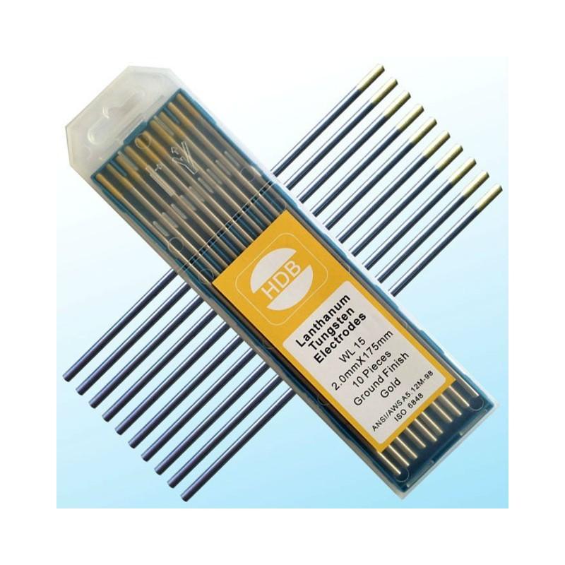 Złota elektroda wolframowa WL15 do TIG 2.0x175mm