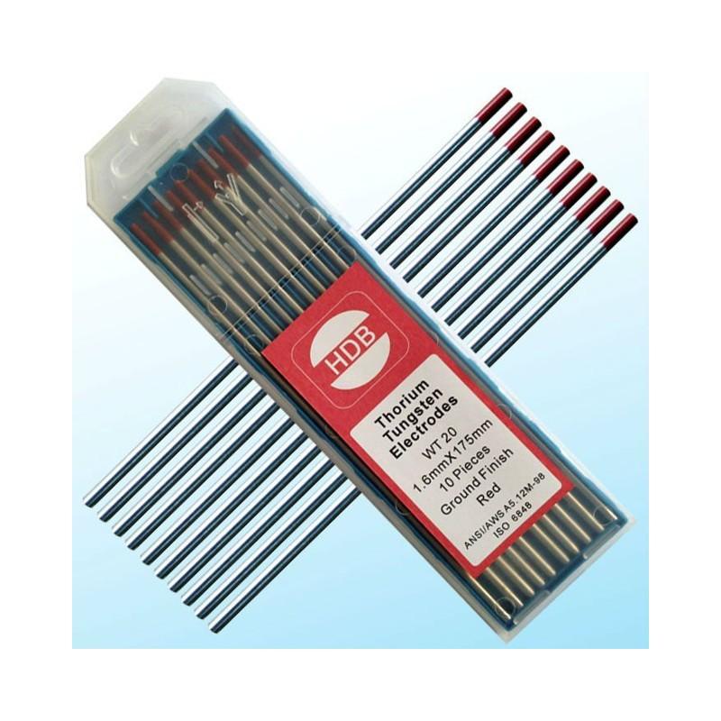 Złota elektroda wolframowa WT20 do TIG 1.6x175mm