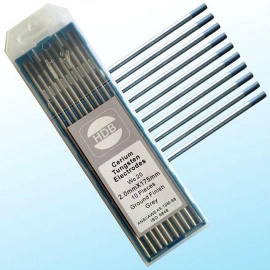 Szara elektroda wolframowa WC20 do TIG 2.0x175mm