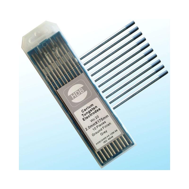Szara elektroda wolframowa WC20 TIG 2.0x175mm