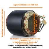 Stojan prądnica długość pakietu 160MM do agregatów trzyfazowych 230V, 400V