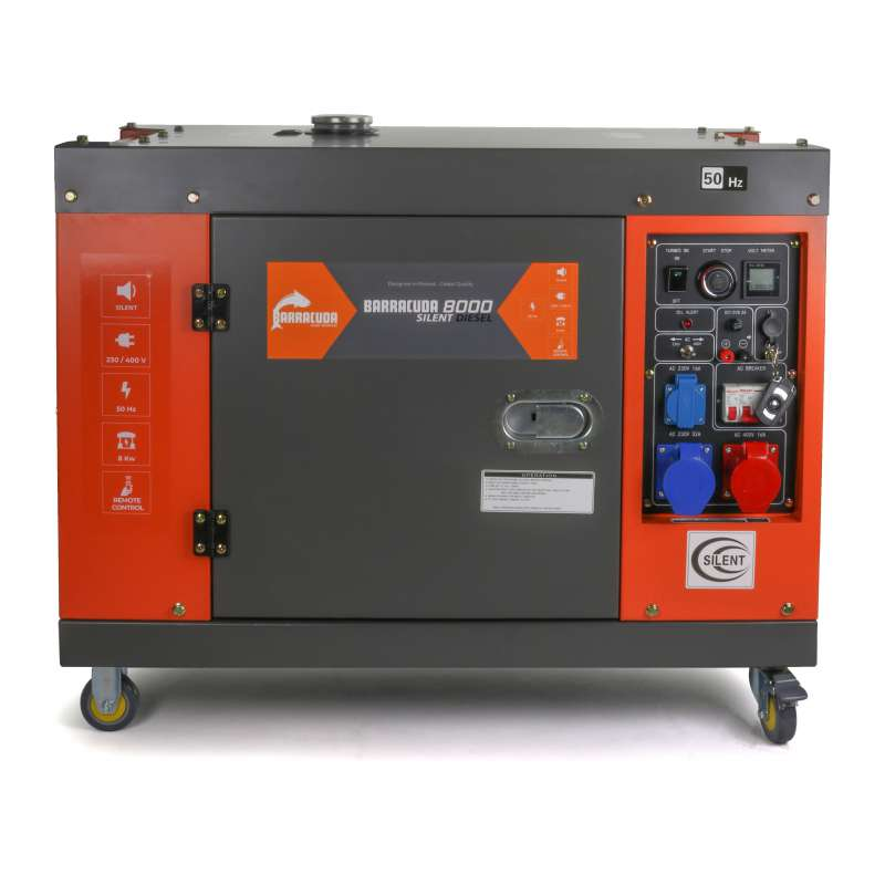 Agregat prądotwórczy 10kVA 400V Barracuda DIESEL 8000 SILENT ze wzmocnioną fazą 230V
