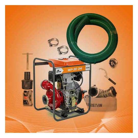 Zestaw nawadniający motopompa wysokociśnieniowa DIESEL 3 cale (75 mm)